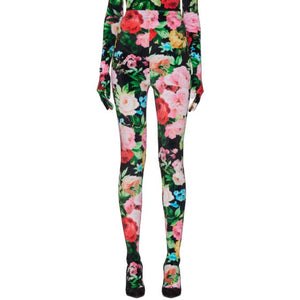 Richard Quinn Black Floral Leggings