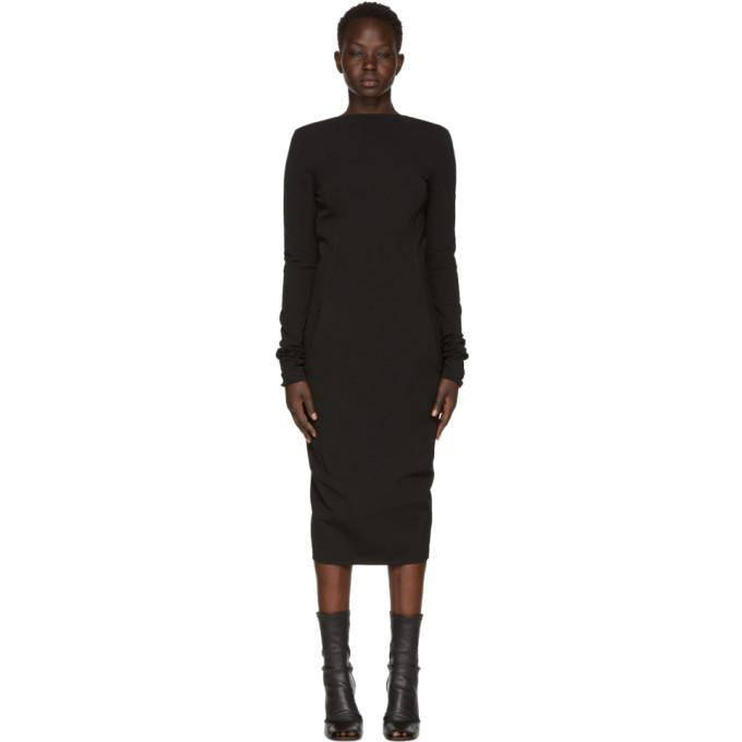 Rick Owens Black Grosgrain Maria Dress-BLACKSKINNY.COM