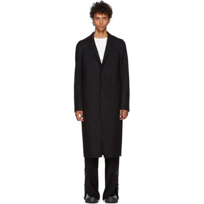 Rick Owens Black Moreau Coat-BlackSkinny