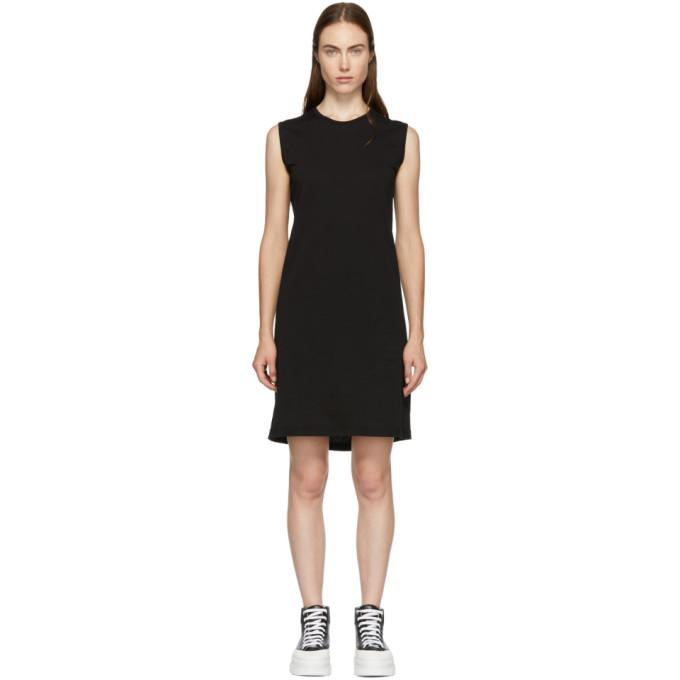 Rick Owens Drkshdw Black Column Short Dress-BLACKSKINNY.COM