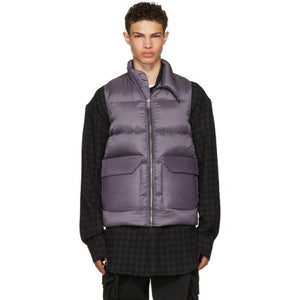 Rick Owens Purple Down Mollino Vest-BlackSkinny