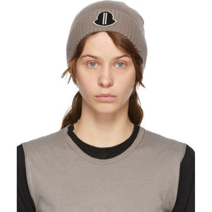Rick Owens Taupe Moncler Edition Cashmere Beanie