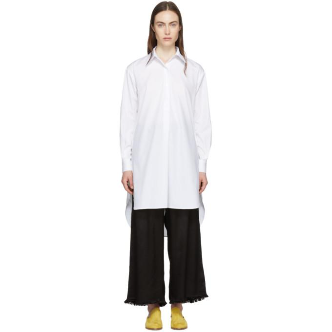 Rosetta Getty White Tunic Shirt Dress-BLACKSKINNY.COM