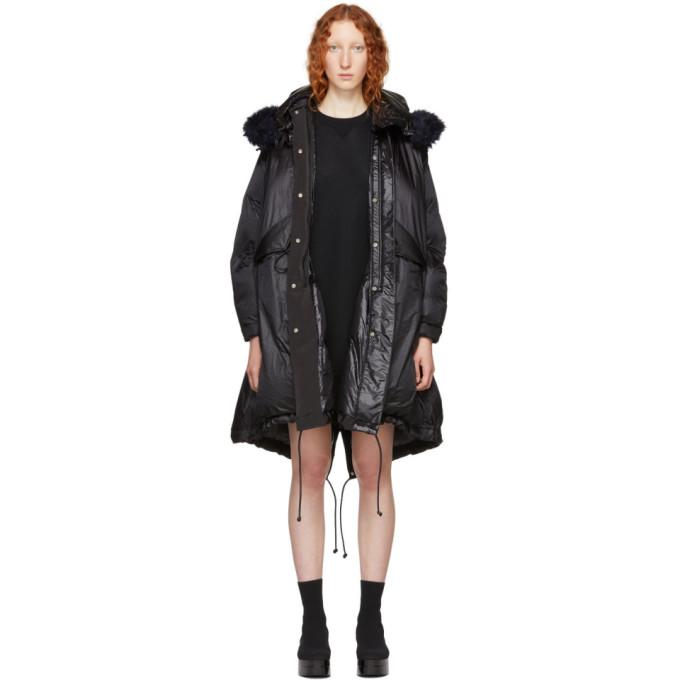 Sacai Black Down Coat-BlackSkinny