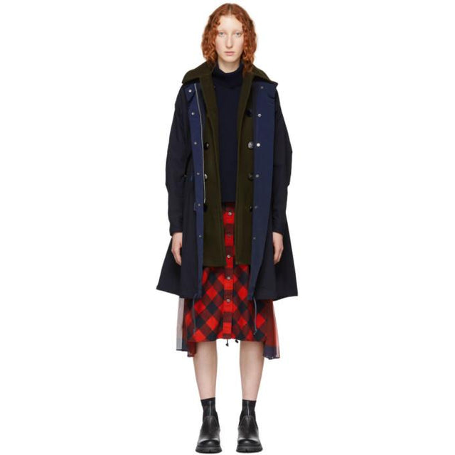 Sacai Navy Oxford Coat-BlackSkinny