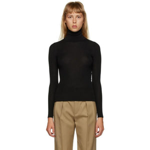 Saint Laurent Black Cashmere Turtleneck
