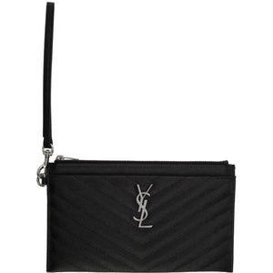 Saint Laurent Black Large Monogramme Bill Pouch