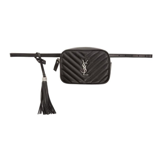Saint Laurent Black Lou Belt Bag