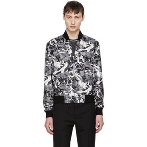 Saint Laurent Black Scandal Bomber Jacket-BlackSkinny