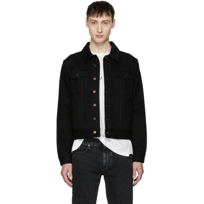 Saint Laurent Black Worn Denim Jacket-BlackSkinny