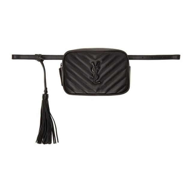 Saint Laurent Full Black Lou Belt Bag