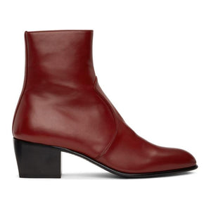 Saint Laurent Red Cole Boots