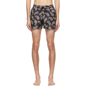 Salvatore Ferragamo Navy Paisley Swim Shorts