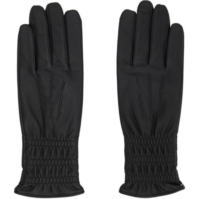 Sasquatchfabrix. Black Lambskin Long Gloves