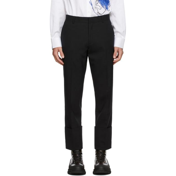 Sean Suen Black Wool Cropped Trousers
