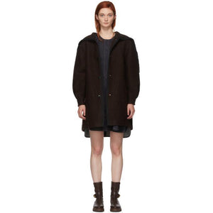 See by Chloé Brown Oversized Coat-Jackets & Coats-BLACKSKINNY.COM