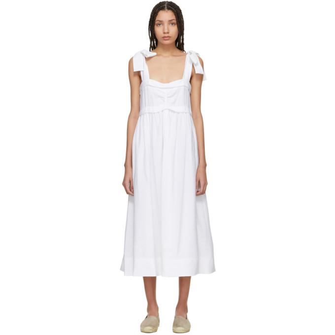 See by Chloé White Tie Shoulder Dress-BLACKSKINNY.COM