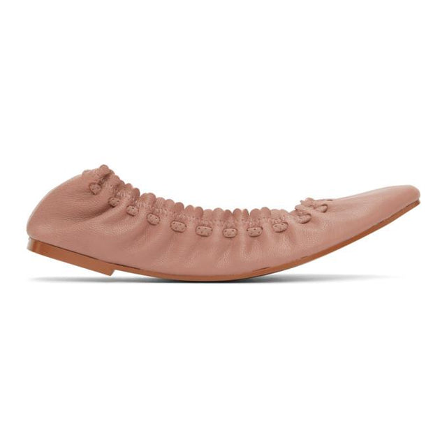 See by Chloe Pink Leather Jane Ballerina Flats