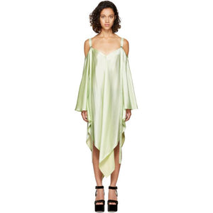 Sies Marjan Mint Phoebe Off-the-Shoulder Dress-BLACKSKINNY.COM