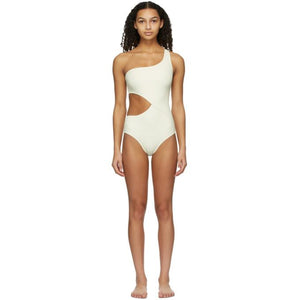 Solid and Striped Off-White The Claudia One-Piece Swimsuit