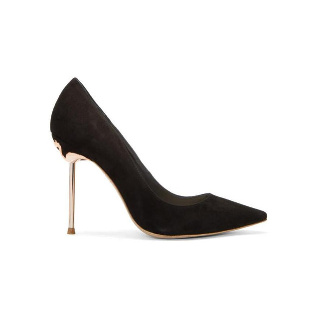 Sophia Webster Black Coco Flamingo Heels-BLACKSKINNY.COM