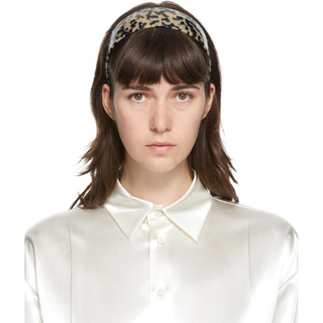 Sophie Buhai Beige and Black Bessette Headband