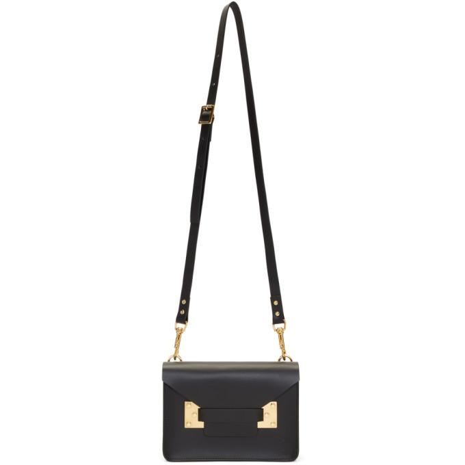 Sophie Hulme Black Mini Milner Crossbody Bag-Bags-BLACKSKINNY.COM
