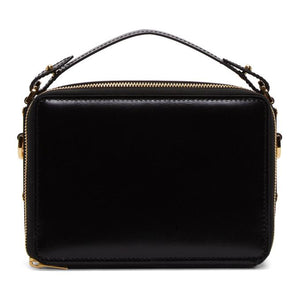 Sophie Hulme Black Mini Trunk Bag-Bags-BLACKSKINNY.COM