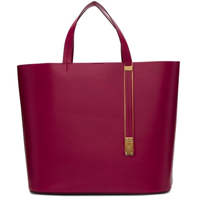Sophie Hulme Red East West Exchange Tote-Bags-BLACKSKINNY.COM