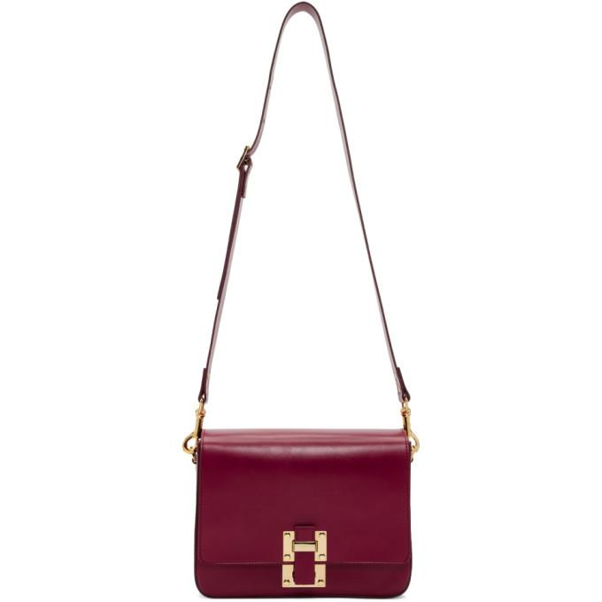 Sophie Hulme Red Large Quick Bag-Bags-BLACKSKINNY.COM
