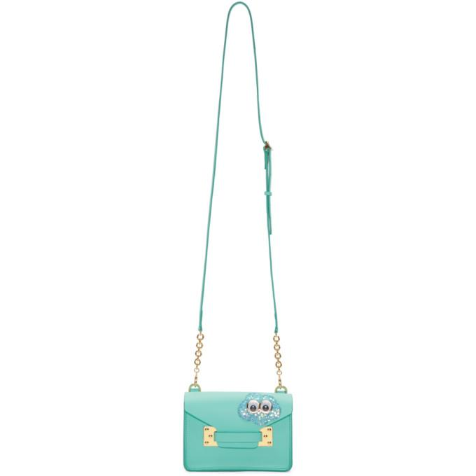 Sophie Hulme SSENSE Exclusive Blue Glitter Cloud Nano Milner Crossbody Bag-Bags-BLACKSKINNY.COM