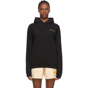 Sporty and Rich Black Sun Club Hoodie