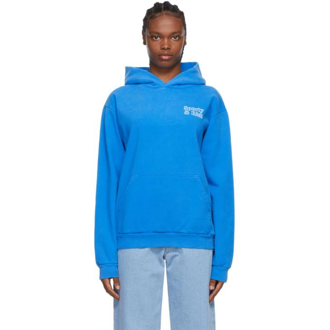 Sporty and Rich Blue Fun Logo Hoodie