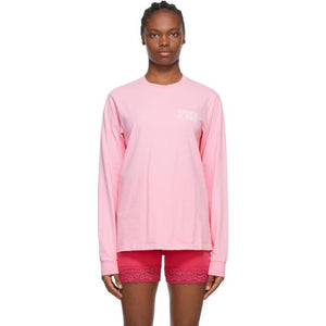 Sporty and Rich Pink Fun Logo Long Sleeve T-Shirt