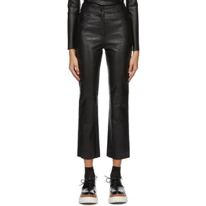 Stand Studio Black Leather Avery Trousers