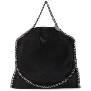 Stella McCartney Black Three-Chain Falabella Tote