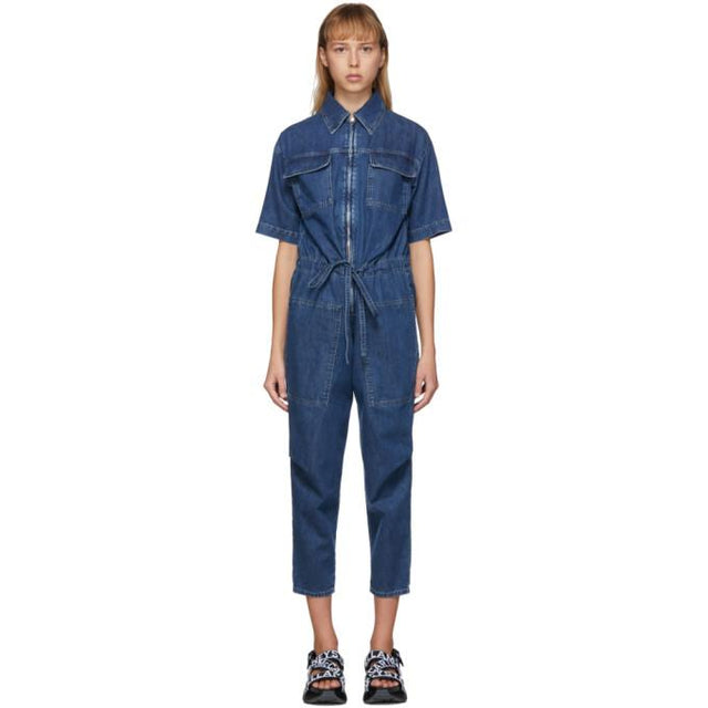 Stella McCartney Blue Denim Jumpsuit