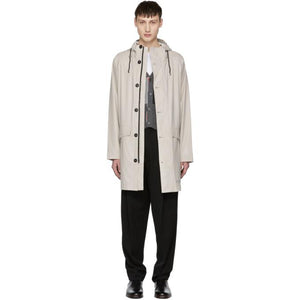 Stutterheim Off-White Ekeby Raincoat-BlackSkinny