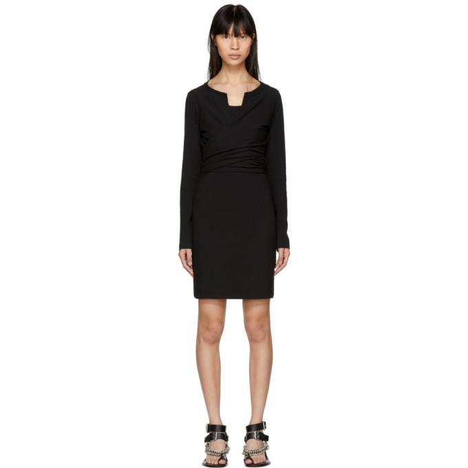 T by Alexander Wang Black High Twist Dress-BLACKSKINNY.COM