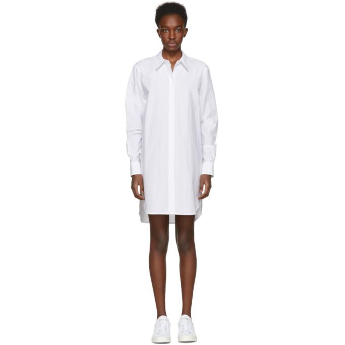 T by Alexander Wang White Shirt Dress-BLACKSKINNY.COM