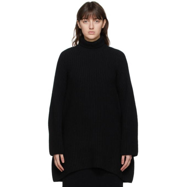 The Row Black Azura Turtleneck