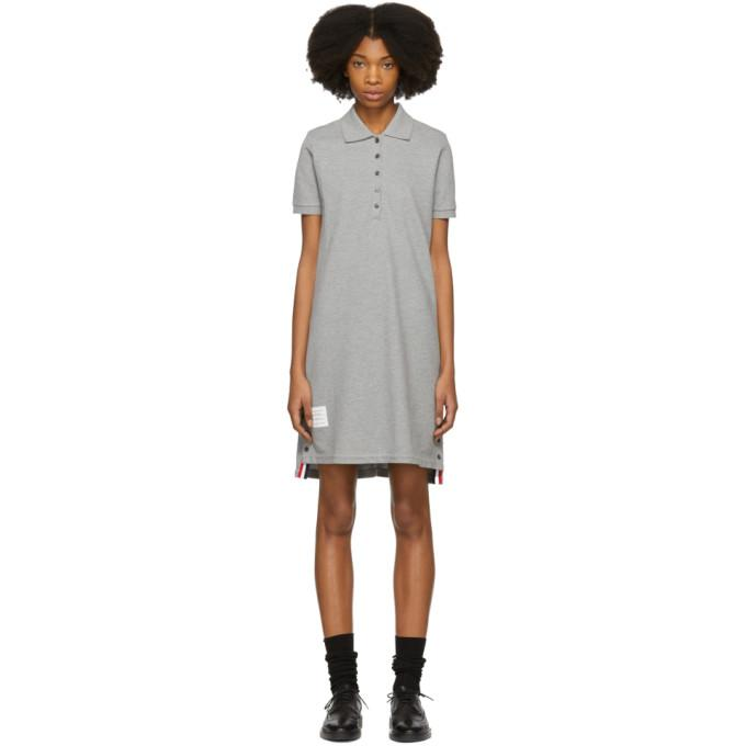 Thom Browne Grey A-Line Polo Dress-BLACKSKINNY.COM