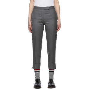 Thom Browne Grey Super 120 Wool Classic Backstrap Trousers
