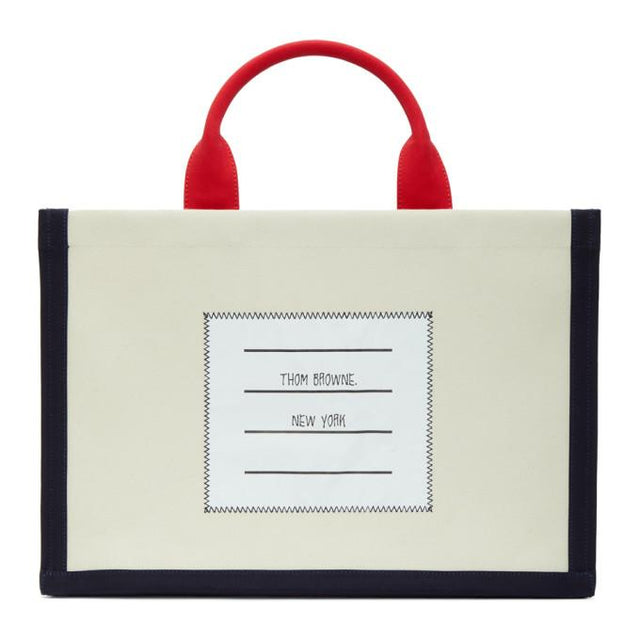 Thom Browne Off-White Squared Tote