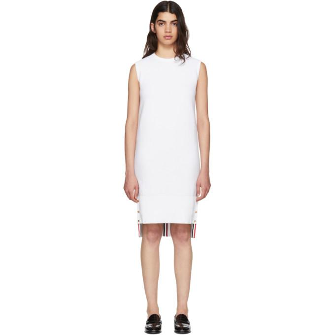 Thom Browne White Links Links Shift Dress-BLACKSKINNY.COM