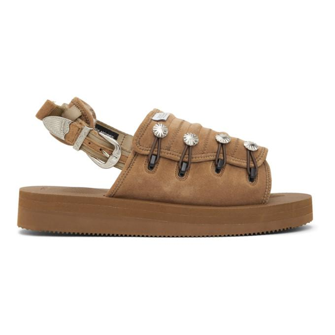 Toga Tan Suicoke Edition Suede AJ502 Sandals