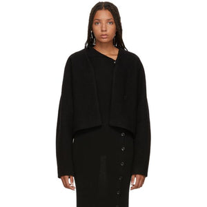 Totême Black Santos Jacket-Jackets & Coats-BLACKSKINNY.COM