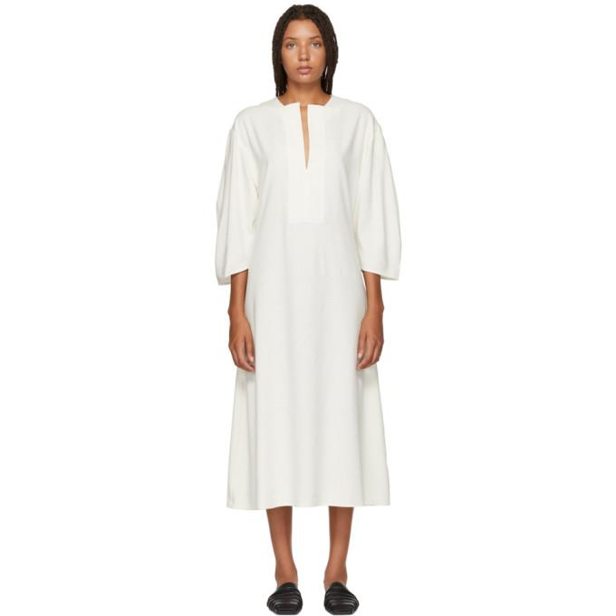 Totême White Voluminous Marais Dress-BLACKSKINNY.COM