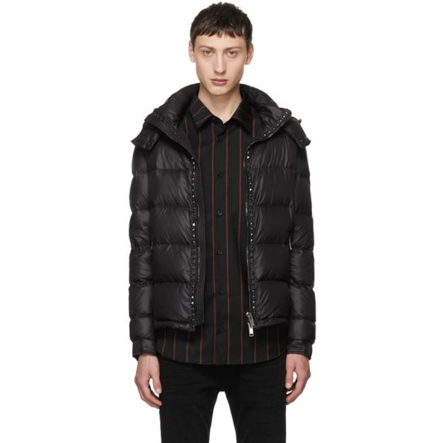 Valentino Black Rockstud Untitled Down Jacket-BlackSkinny
