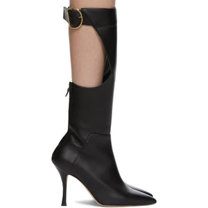Vejas Black Maiorano Edition Cut-Out Boots